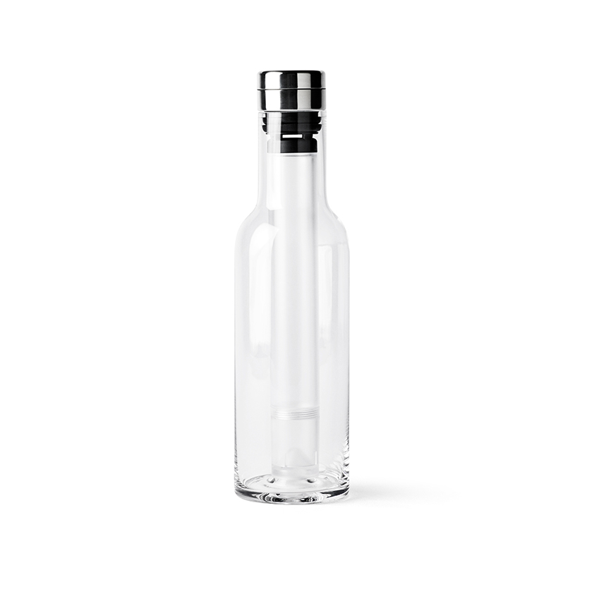 This 'Cool Bottle' by Norm Architects for Menu comes with reuseable cooling sticks: simply put them in the freezer to cool, then screw into the bottle so that your drinks stay cold without being diluted by melting ice. £46 (menu-design-shop.de)