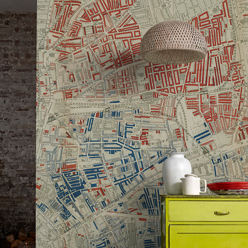 ELLE Decoration UK Victorian map wallpaper by Surfaceview