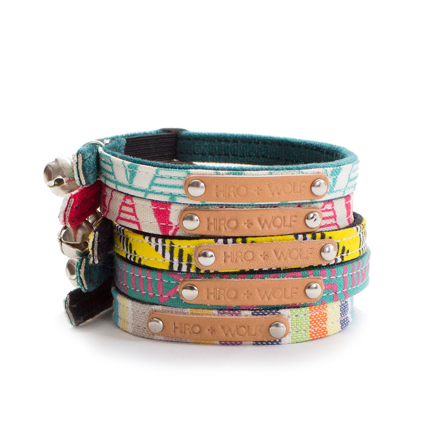 'Geo' dog collars, from £25, Hiro + Wolf