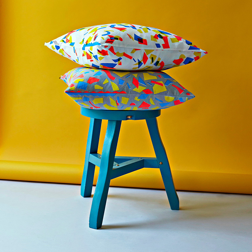 Picture: Yeshen Venema  'Fluorescent Forest' cushions, from £45