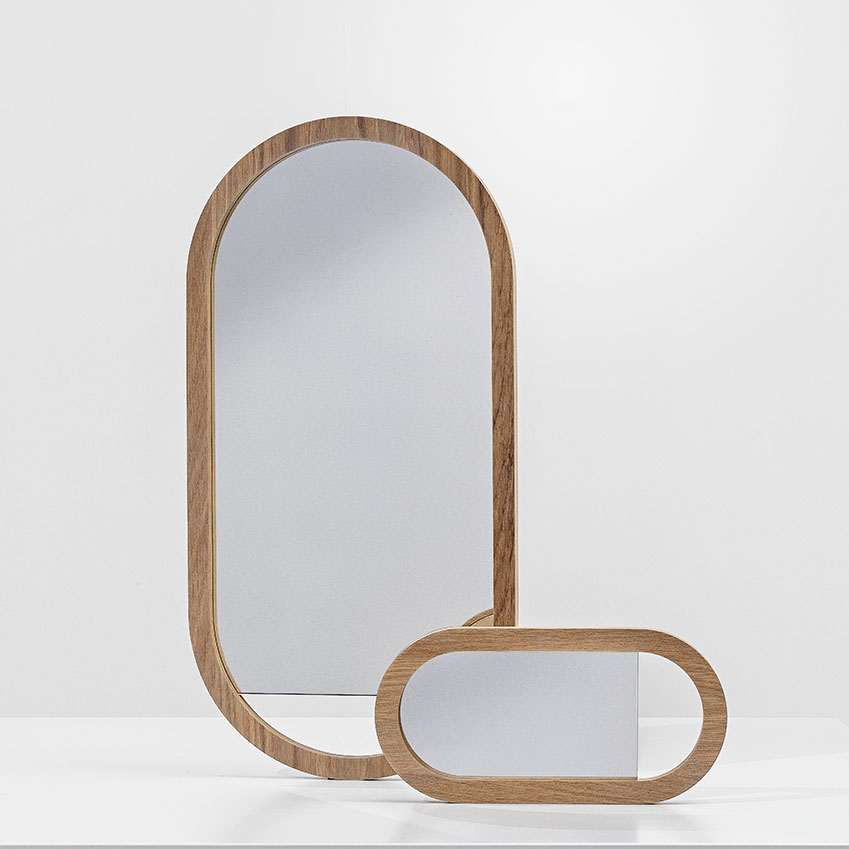 'Living' oak framed mirror, £129, BoConcept