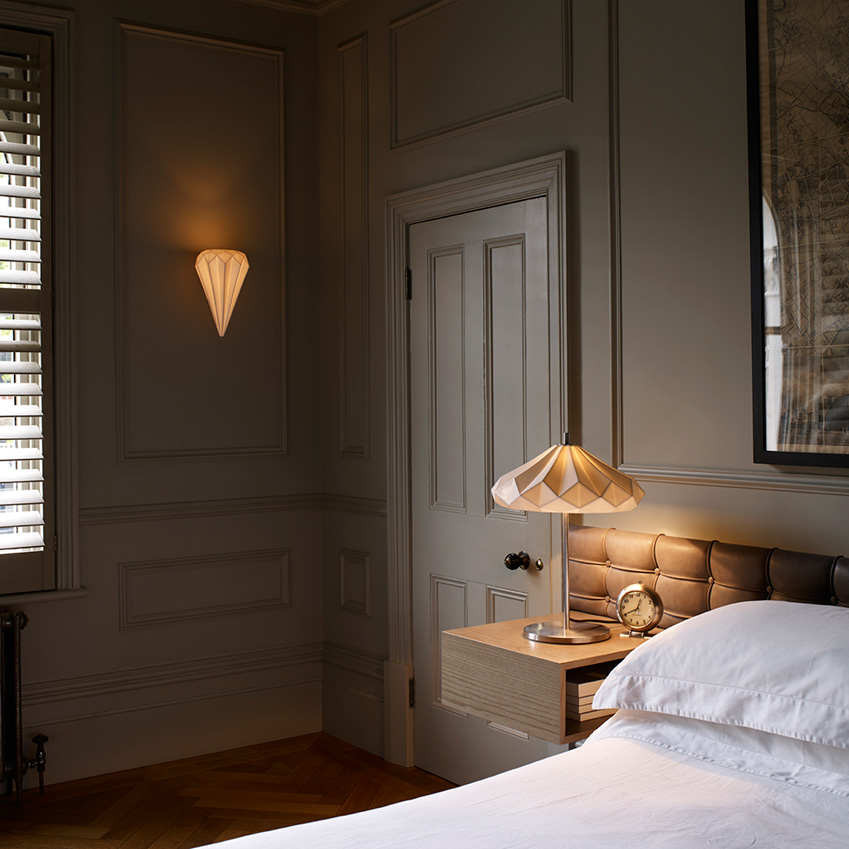 Hatton pleated lights by original btc elle decoration uk image 4 of 4 aloadofball Gallery