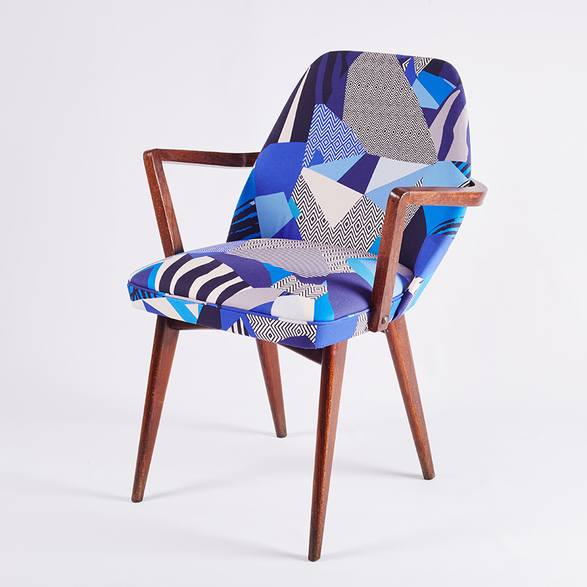 'Matisse Blue Retro' chair by Florrie & Bill, £250, Kitty McCall (kittymccall.com)