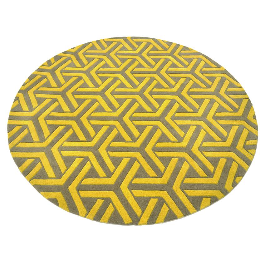 'Tribord rug', £345 for a 1.4-metre diameter rug, Rug Couture (rugcouture.com)