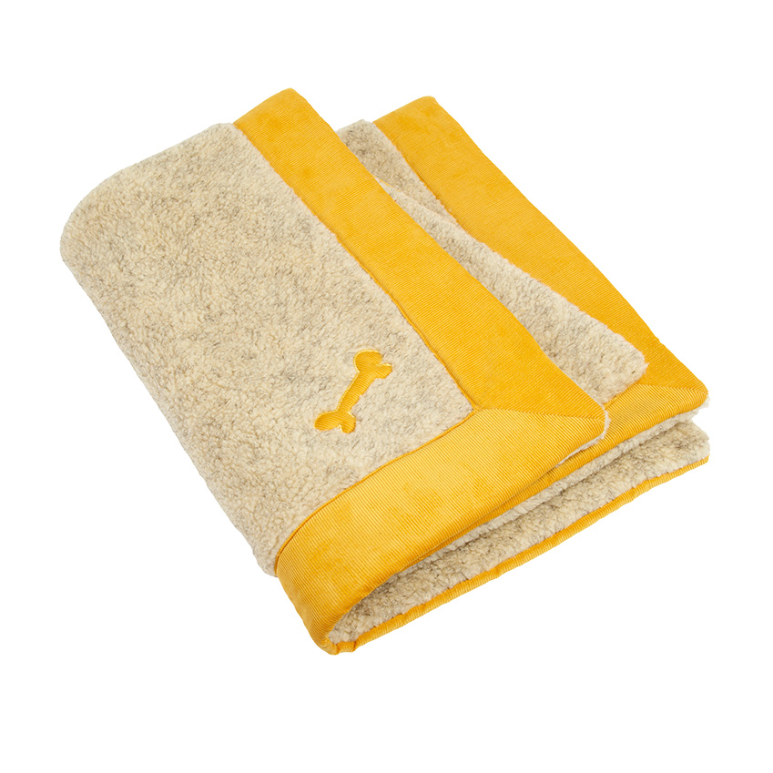 'Spencer' corduroy and fleece blanket, £165, Love My Dog (lovemydog.co.uk)