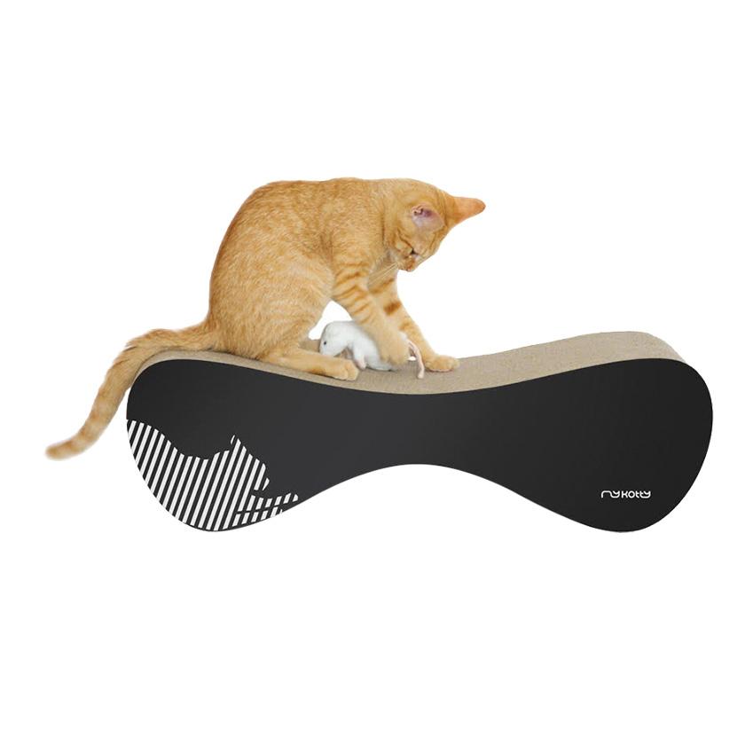 'Vigo' cardboard cat scratcher by Myknotty, £35, Style Tails (styletails.com)