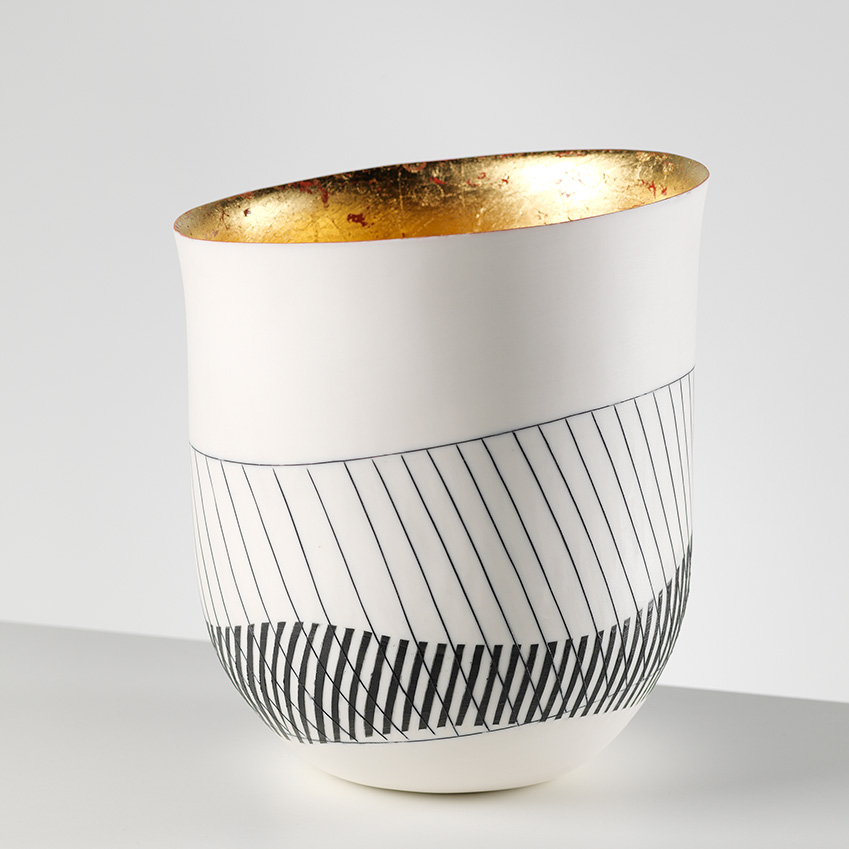 Vessel lined with 24ct gold by Lara Scobie, from £85
