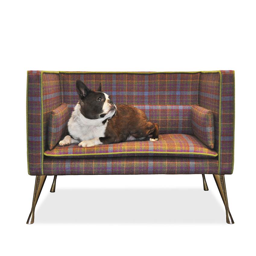 Luxury Tartan Dog Bed By Savoir Elle Decoration Uk