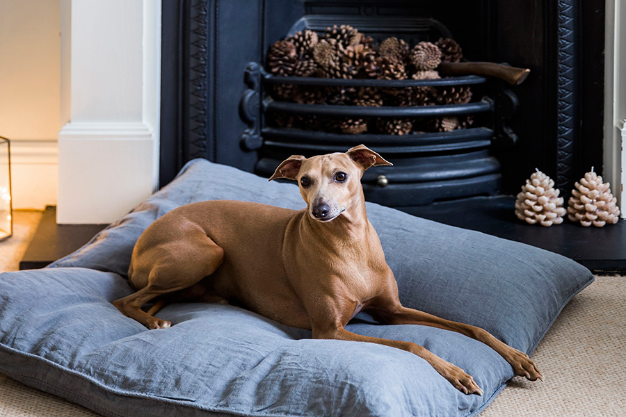 linen dog bed by The Linen Works