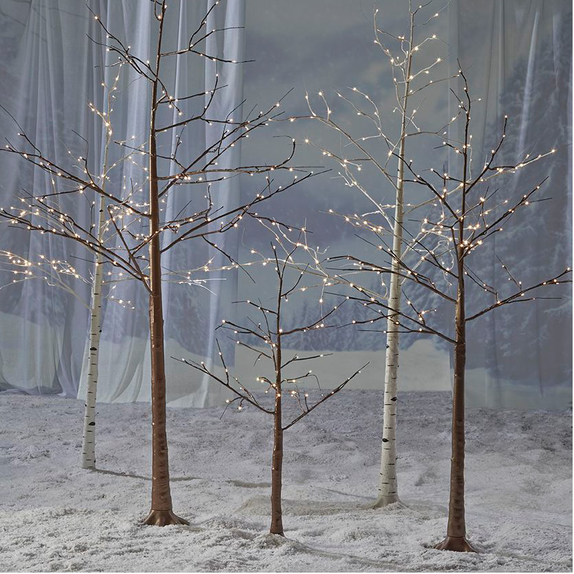 John Lewis – These pre-lit copper and silver birch trees will help you create a winter wonderland both indoors and out. From £45 for a 4ft copper tree (johnlewis.com)