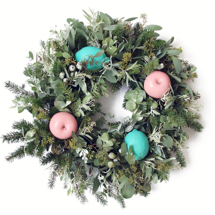 Festive wreath, £70, Sweet Pea Flowers (sweetpeaflowers.co.uk)