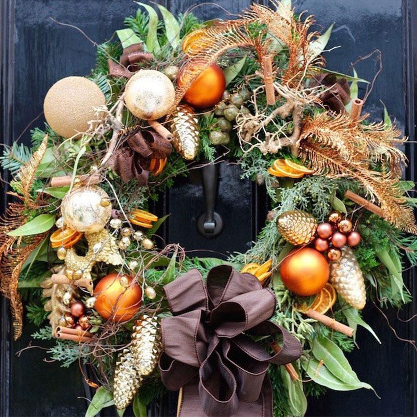 Christmas wreath, from £145, Neill Strain (neillstrain.com)