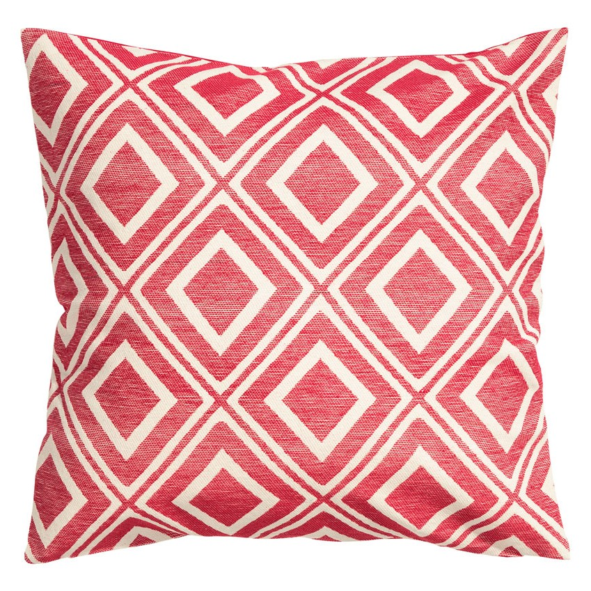Graphic red and white cushion cover £7.99