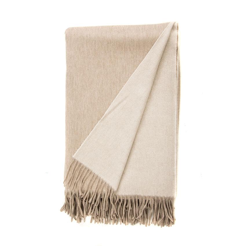 Reversible cashmere throw, £725, Begg & Co (beggandcompany.com)