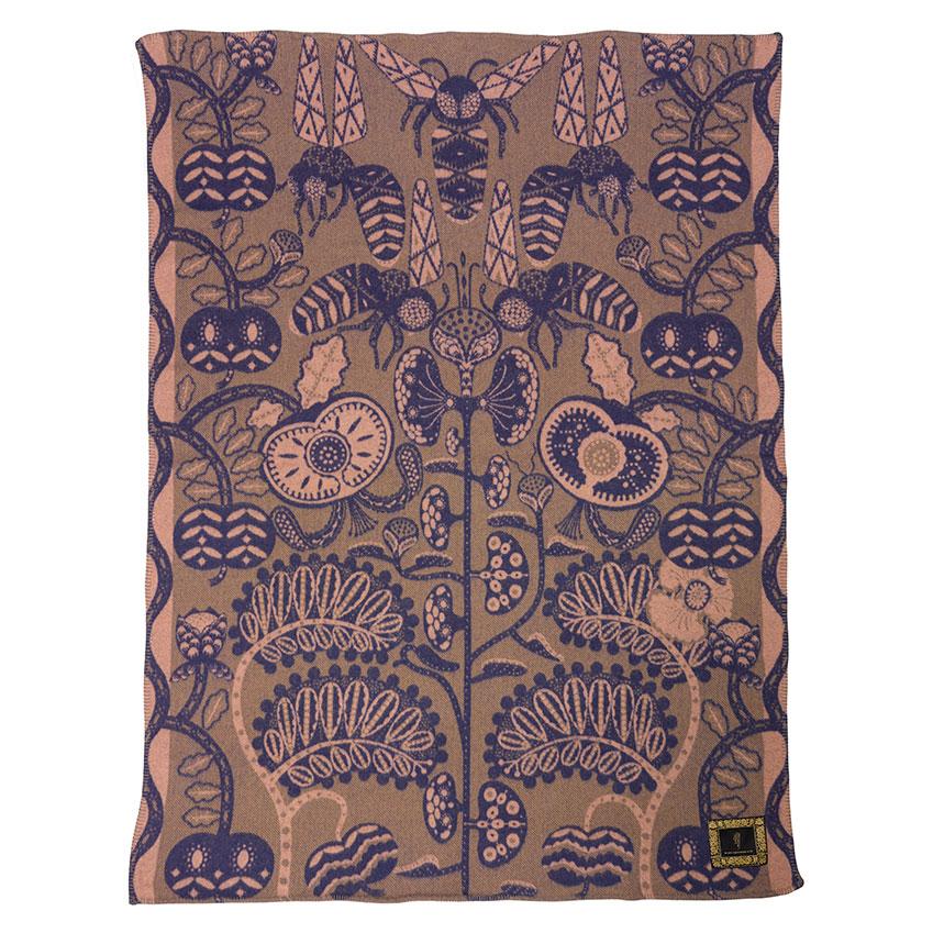 'Bees' lambswool blanket, £165, Klaus Haapaniemi (klaush.com)