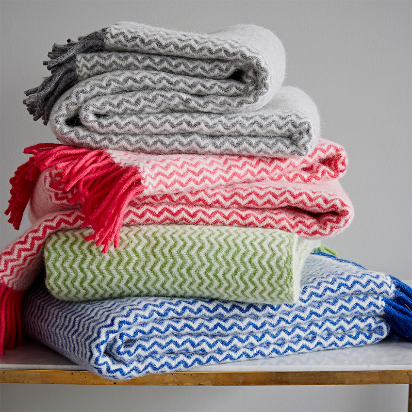 'Zigzag' lambswool throw by Rigby & Mac, £68, Trouva (trouva.com)