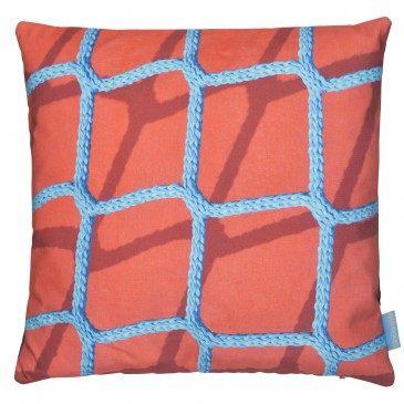 Ella Doran for Woven Rope on Red cushion 45x45cm