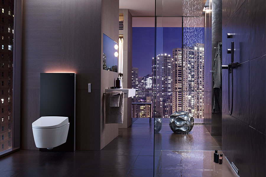 The Geberit AquaClean technological toilet
