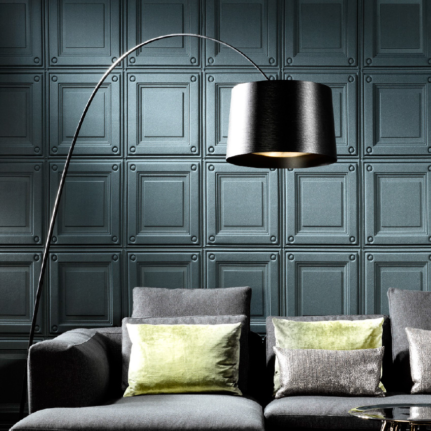 'Intrigue' textured wallcovering, £229 per metre, Arte (arte-international.com)