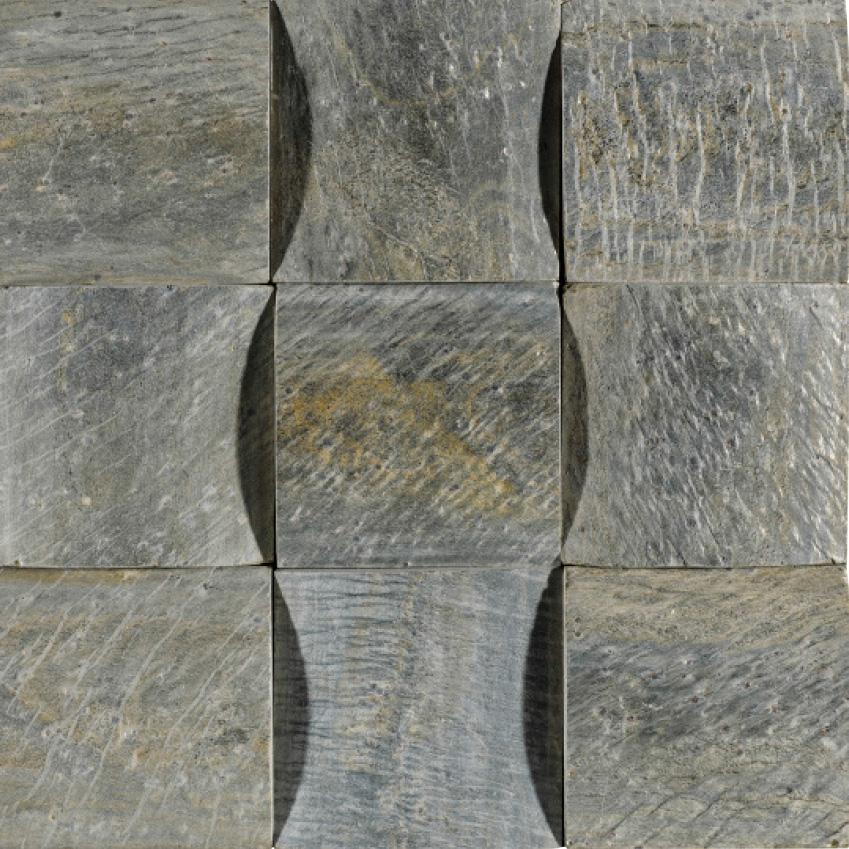 'Skyline Big Trial Sabana' stone mosaic tiles, £13.19  per piece, Porcelanosa (porcelanosa.com)