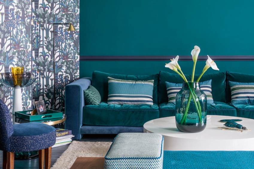 Living Room Colour Uk colour: teal blue - elle decoration uk