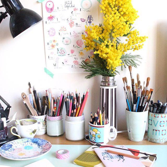 Office Inspiration From Etsydeskie Elle Decoration Uk