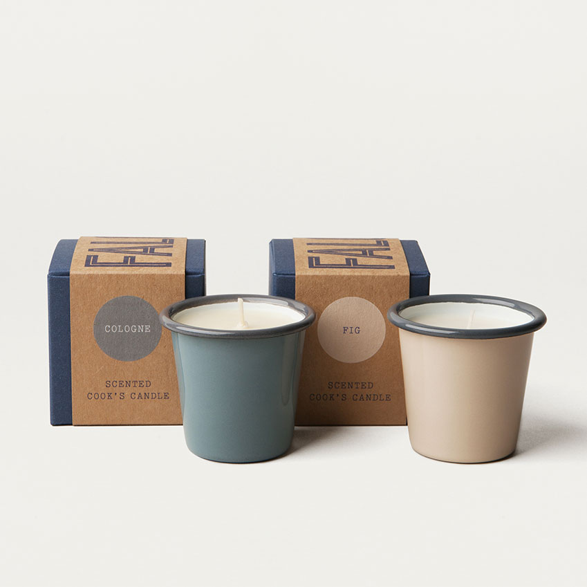 Falcon Enamelware, known for its stylish and functional cookware, creates its first line of scented candles. Set in mini tumblers they're designed to match its other iconic designs, and have been made in collaboration with Secret d'Apothicaire in Normandy, France. Founded by Muriel and Frederic Dana, an interior designer and pharmacist, respectively, this French firm is known for its luxurious, exotic scents. The first two candles in the Falcon Enamelware range are fragranced with perfumes from Grasse in the South of France. 'Fig' has an earthy, sweet tone and 'Cologne' is a fresh and timeless scent. All of the candles are made from 100 per cent natural soya wax with a cotton wick and will burn for 20 hours. And, once the wax has completely melted, the mini tumblers can be put in the dishwasher and re-used as storage pots in your kitchen. £19.50 each, falconenamelware.com