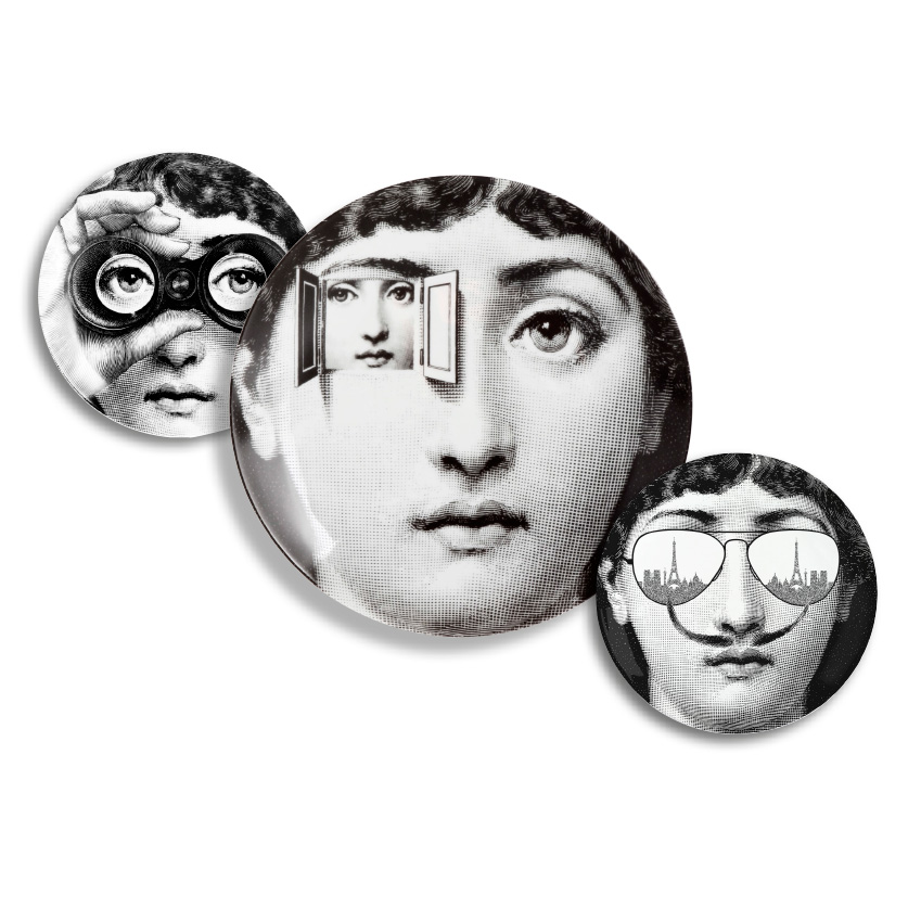 For a classic touch of black and white, you can do no better than Fornasetti plates