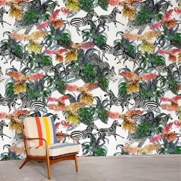 """Jungle Jungle"" print wallpaper by Jessica Russell Flint"