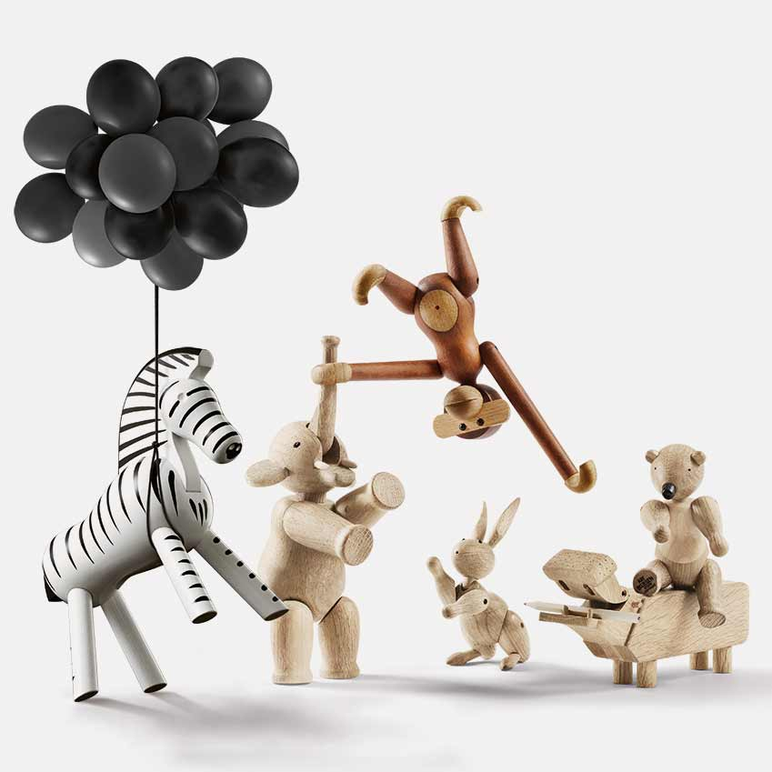 Wooden Animals By Kay Bojesen Elle Decoration Uk