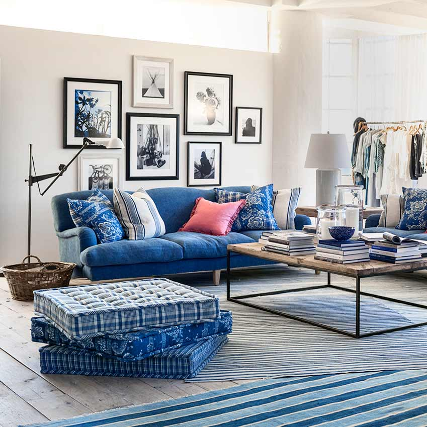 Blue And White Accessories Elle Decoration Uk