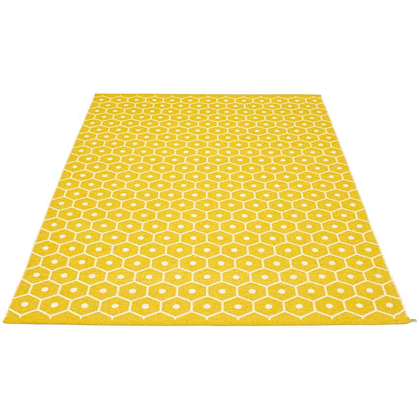 ' Honey' rug in mustard, from £99, Indian ocean (indian-ocean.co.uk)
