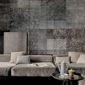 """Ensemble Up"" faux concrete wallpaper by Lorenzo de grands for Wall and Deco, £100 per sq metre (wallanddeco.com)"
