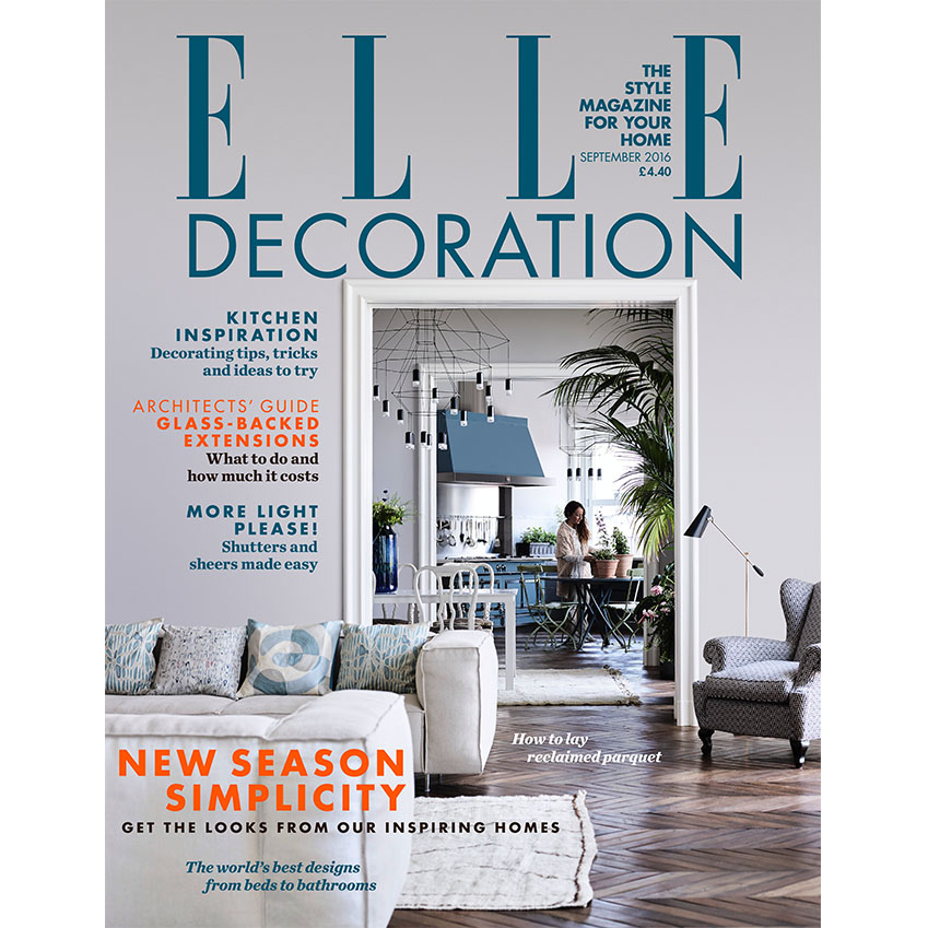 September 2016 elle decoration uk for Deco design magazine