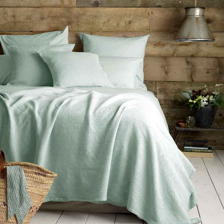 'Percale' pillow cases, from £15 each, and duvet cover, from £45 (secretlinenstore.com)