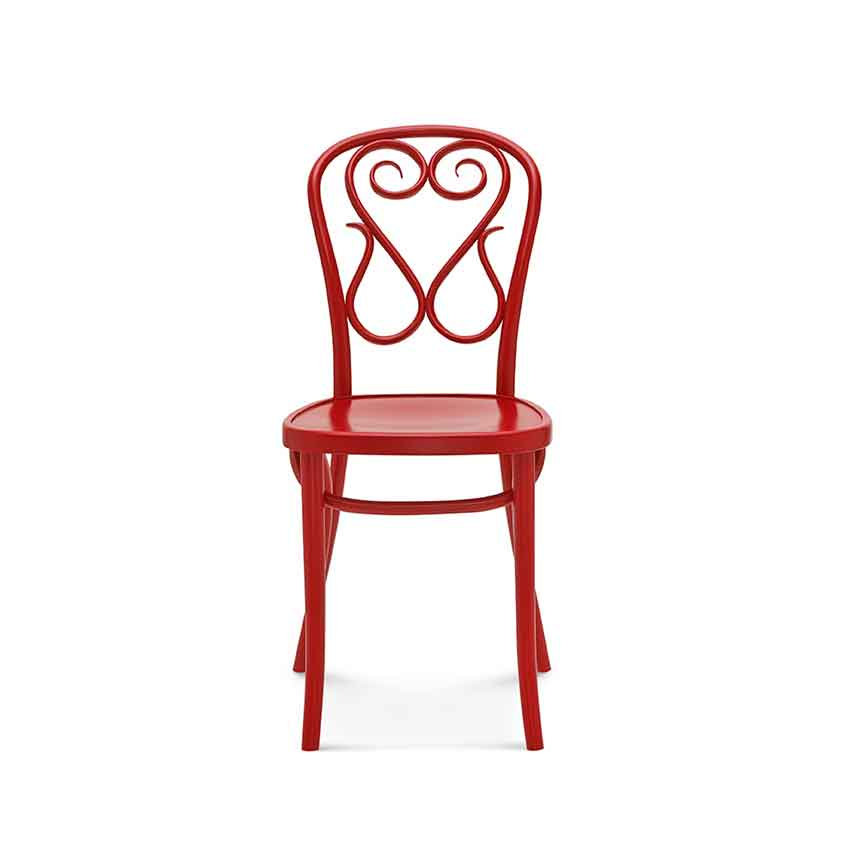 'A4' bentwood bistro chair in red, £140 (artilleriet.se)