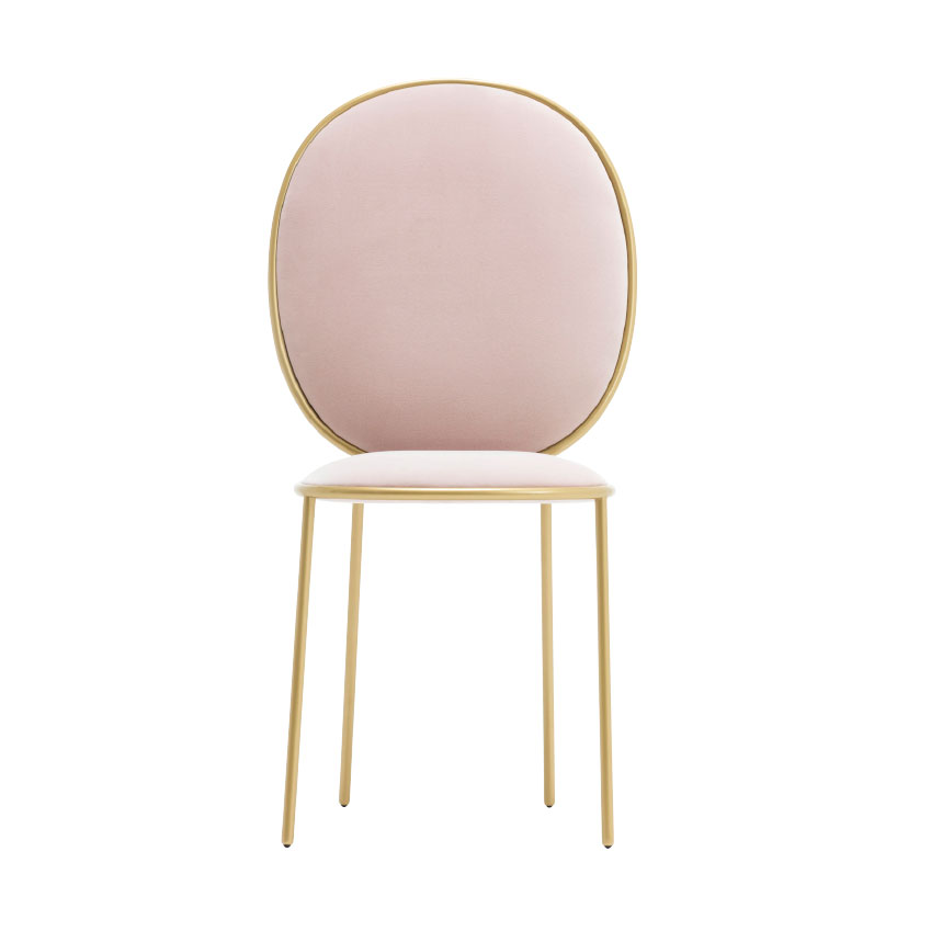 Rounded edges and brass details make this 'Stay' dining chair by Nika Zupanc for Sé irresistable, £1,030 (se-collections.com)