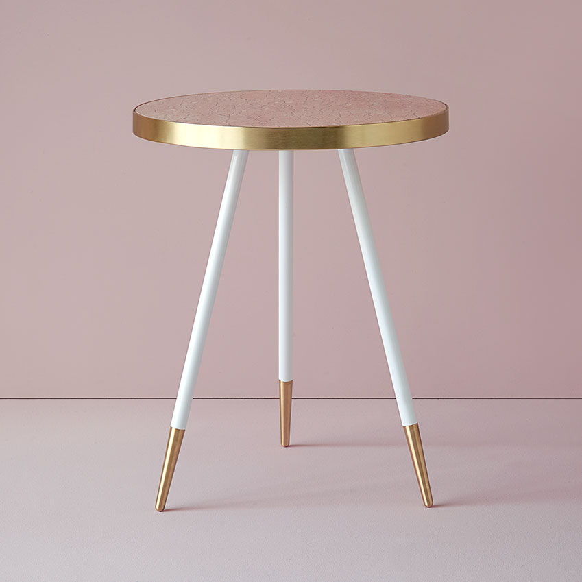 Pink marble and brass mix in the 'Band Rosa' table by Bethan Gray, £2, 460, Harrods (harrods.com)