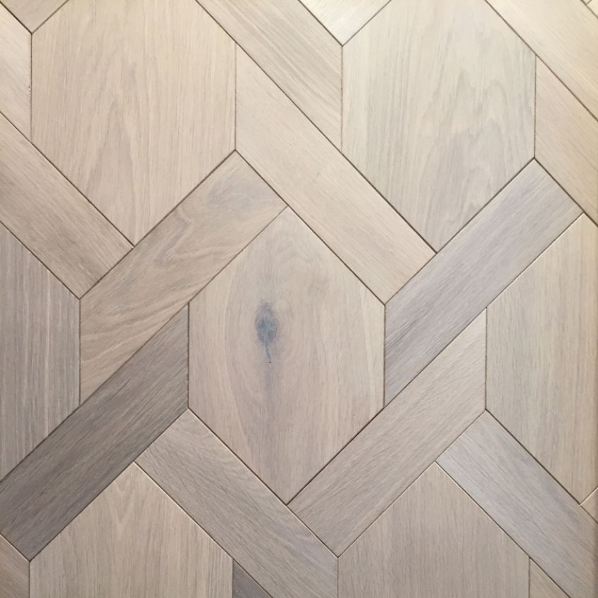 Mansion Weave: Perfect for use in difficult shaped rooms, as it is non-directional. This engineered oak by Ecora is fumed and oiled to bring out the grain in the wood. From £167.82 per square metre (ecora.co.uk)